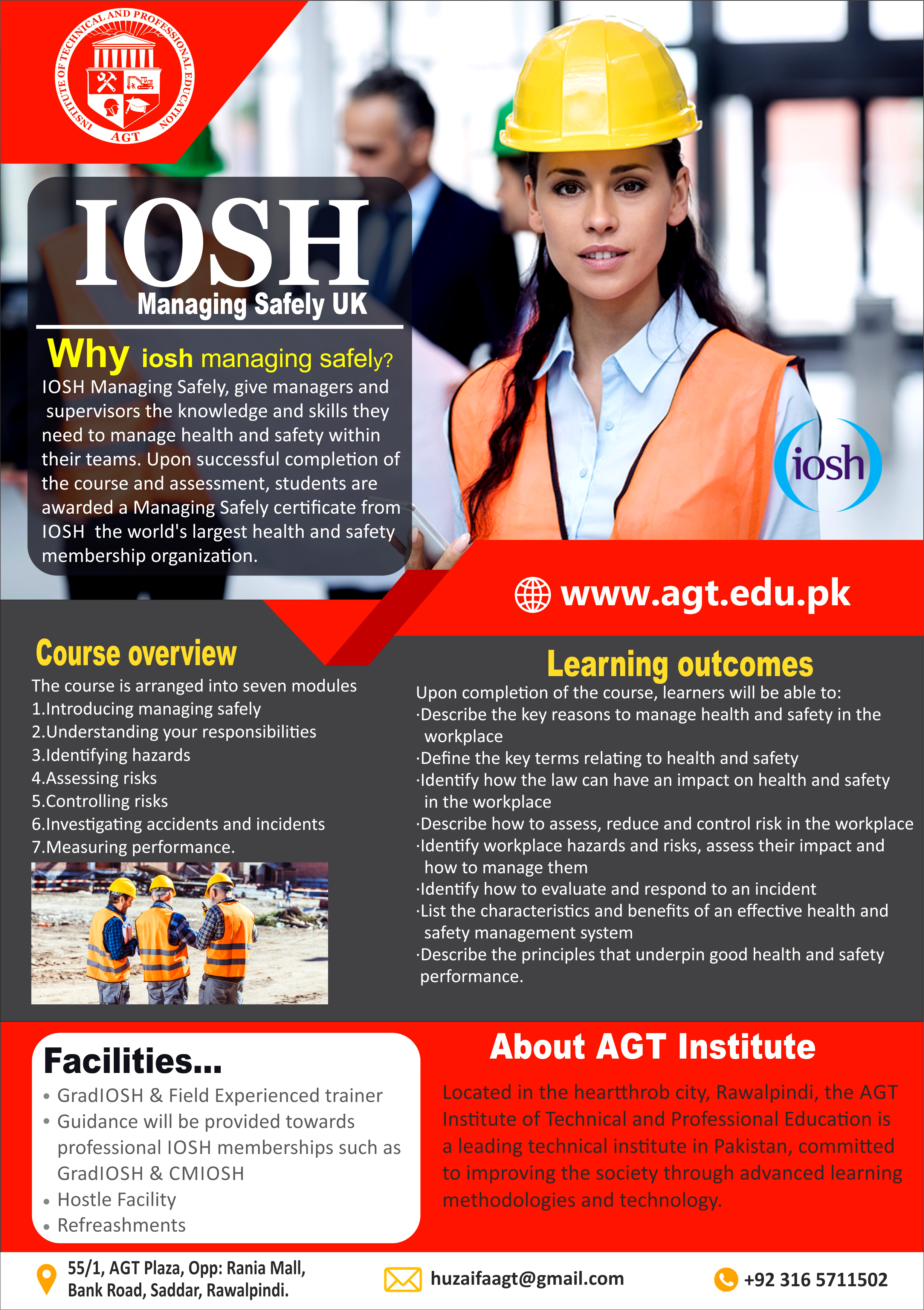 IOSH Certification course  in rawalpindi Pakistan