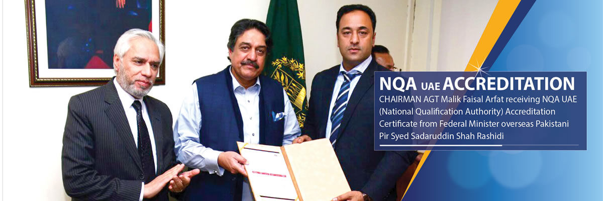 AGT CEO Receiving NQA accreditation certificate